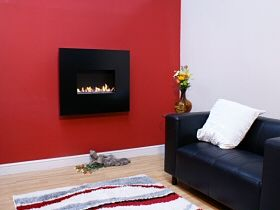 Angel - Flueless Gas Fire - Low Emmissions, Cabon Index, Energy Efficient.