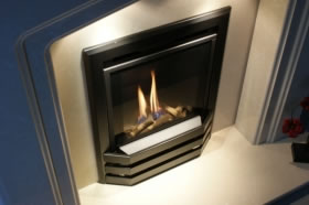 he inset gas fire