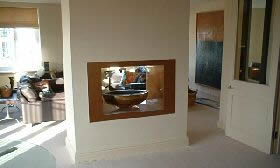 Double Sided Gas Fire Bowl Installation