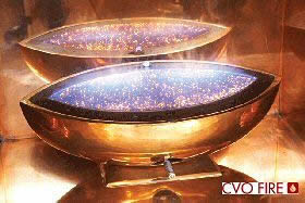 Large Oval Fire Bowl