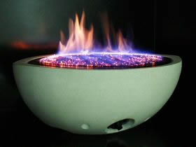 Small Oval Gas Fire Bowl