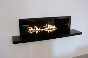 round table central fireplace design with canopy