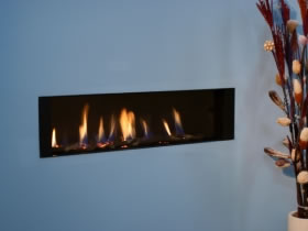 High Efficiency Glass Fronted Gas Fire
