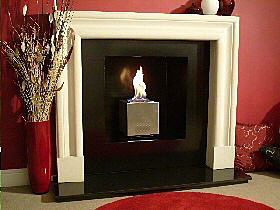 Traditional Fireplace with cube gas fire