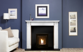 high efficiency traditional fireplace.