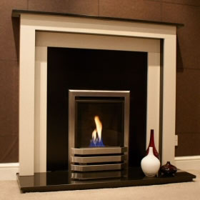 Glamour High Efficiency Inset Gas Fire Glass Fronted Fireplace
