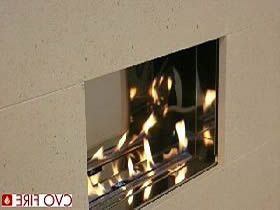 flueless gas fire with open flame