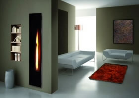 mirror flame gas fire