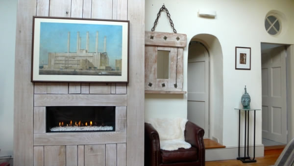 balanced flue gas fire installation