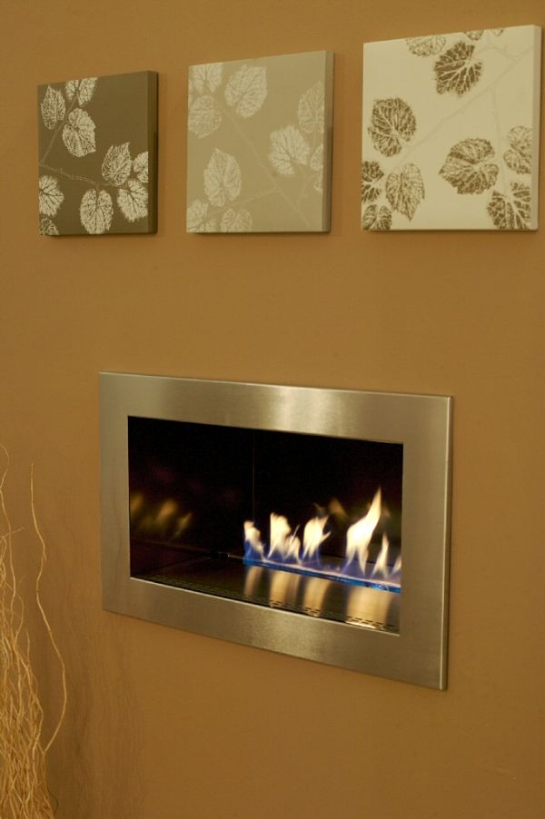 ESSENCE FIRE brushed stainless steel trim