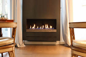 Bespoke Ribbon Fireplace designed by CVO Fire - Ask for details.