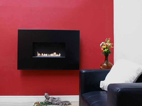 black angel standard open fronted flueless fire