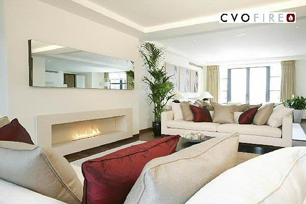 3m wide bespoke fire ribbon gas fire by cvo fire mayfair london