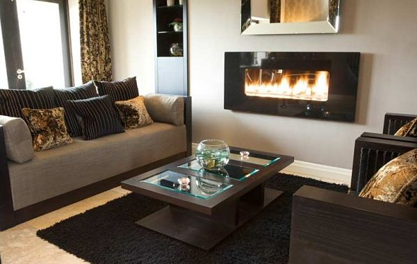 Black Granite Fire Ribbon Gas Fire by CVO - Ben Huckerby Design