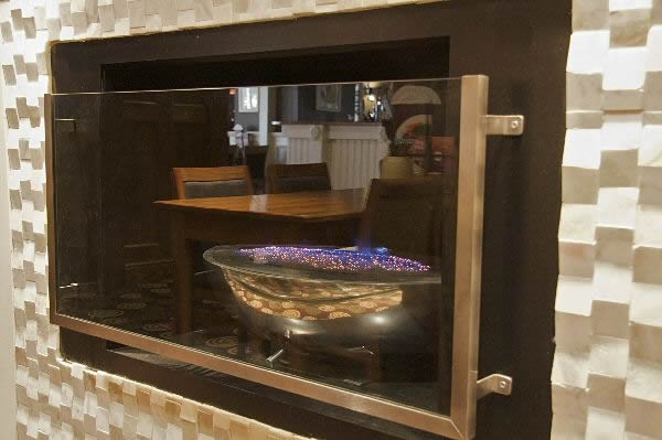 DOUBLE SIDED GAS FIRE BOWL