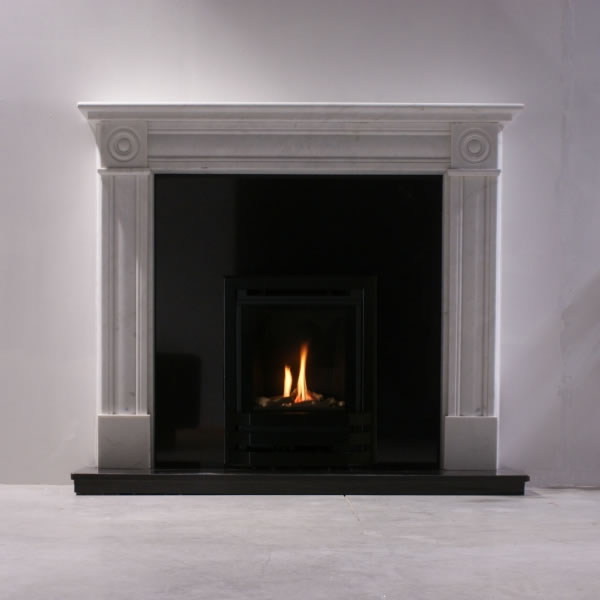 Bailey high efficiency inset gas fire glass fronted fireplace