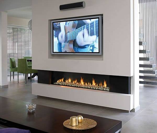 balanced flue gas fire