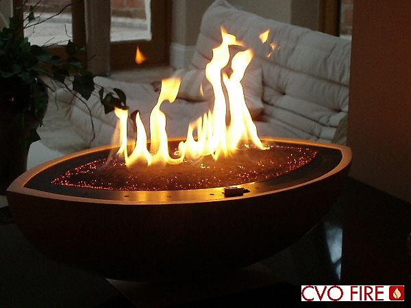 see through gas firepalce white large oval bowl with ceramat