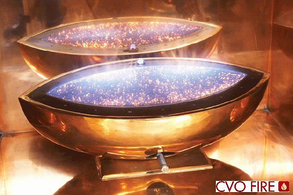 Large Oval Gas Fire Bowl Contemporary Designer Bowl