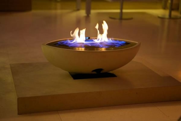 large oval gas fire bowl