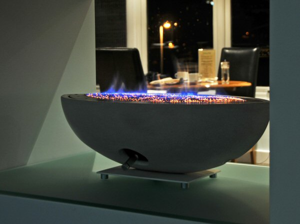 oval firebowl gas fire