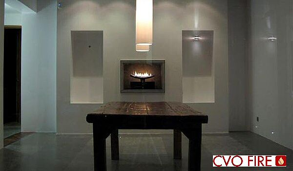 contemporary gas fire cast slit