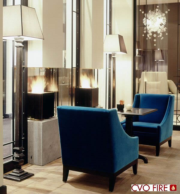 gas fireplaces with cube shaped fires and ceramat burner technology