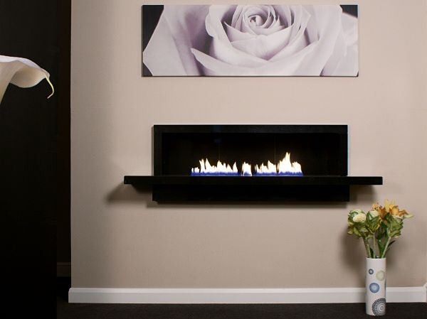 large firebreak limestone fireplace