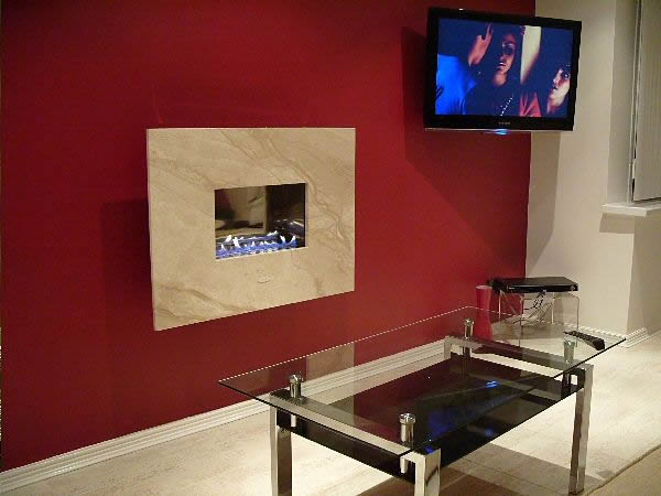 OLYMPICO hang on the wall flueless gas fire