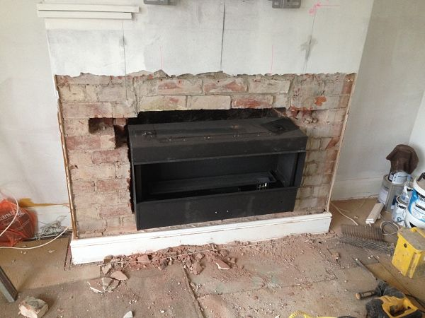 high efficiency gas fire installation