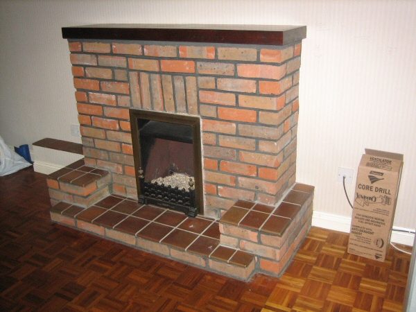 Existing Gas Fire to be removed