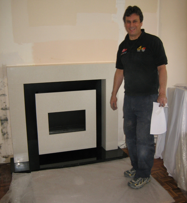 New Contemporary Flueless Gas Fire Installed