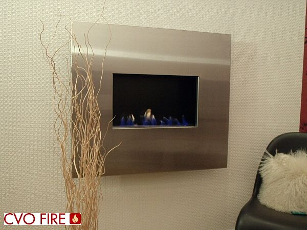 lucent hang on the wall gel fire with stainless steel fascia
