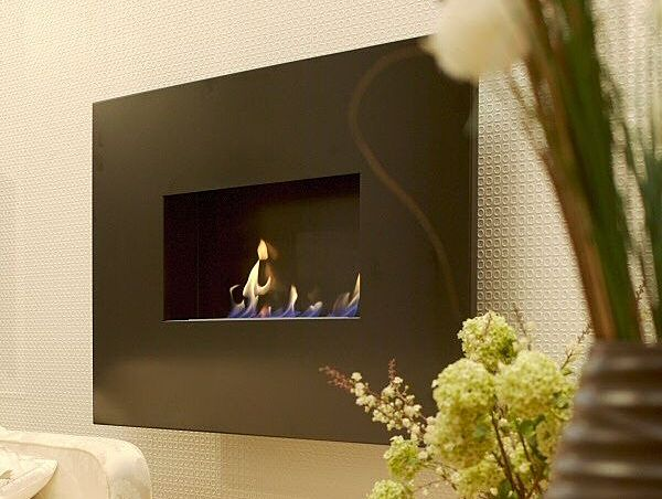 bio ethanol lucent fireplace hang on the wall style