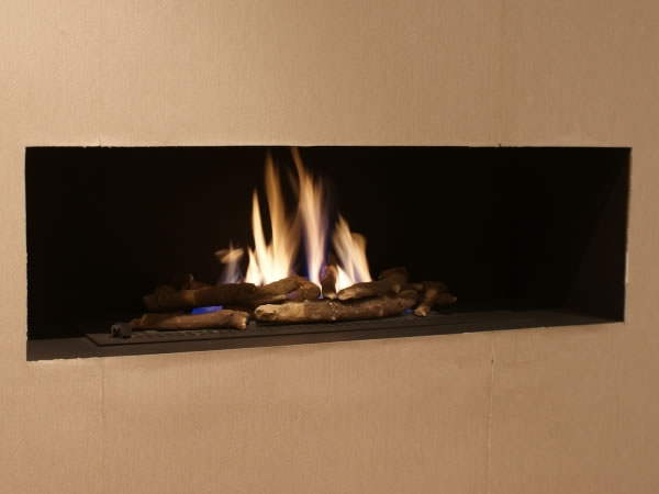 flame detail cube fireplace ceramat burner