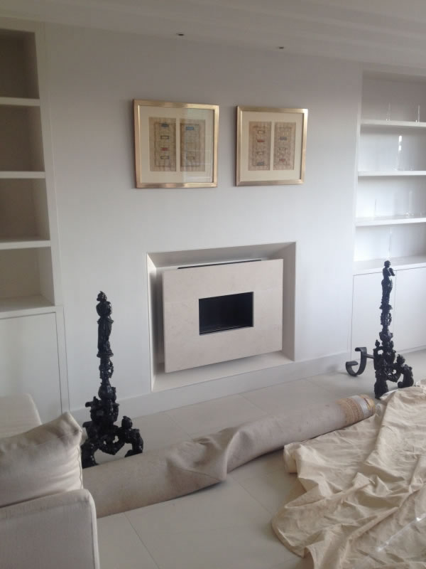 limestone flueless gas fire