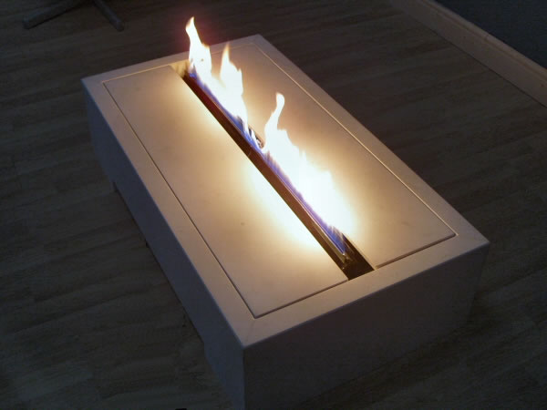 limestone ribbon flame gas fireplace for stand alone or tunnel feature fireplaces