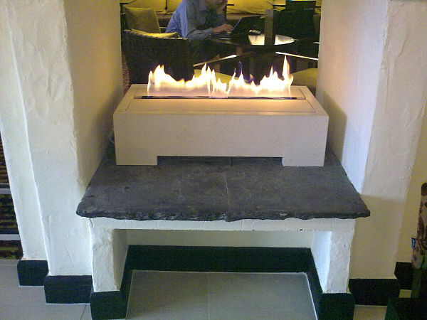 ribbon flame besoke limestone firebox