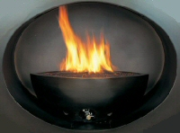 firebowl in black coloured stone