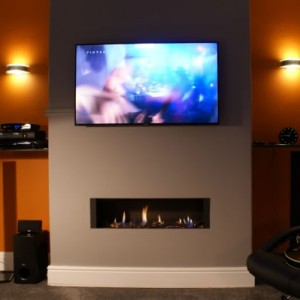 FR920HE High Efficiency Gas Fire With TV Above