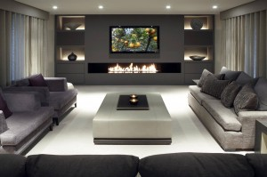 Gas Burner Install With Recessed TV Above