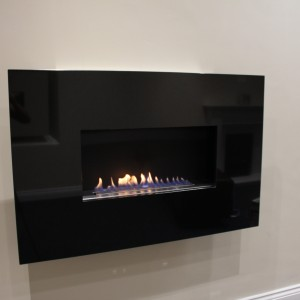 Moderno Flueless Fire Installed In Firevault Showroom