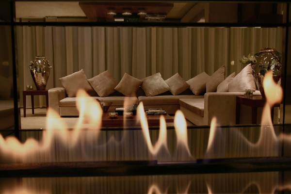 Double Sided Fire Ribbon Gas Fire