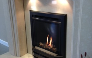 Bailey High Efficiency Gas Fire With Down Lights And Logs