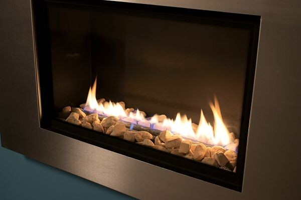 FR600 High Efficiency Gas Fire Flame Closeup