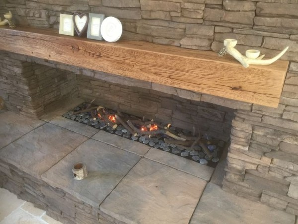 Focus Burner Installation With Log Decor