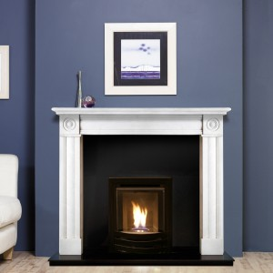 Glamour Inset High Efficiency Fire In Surround