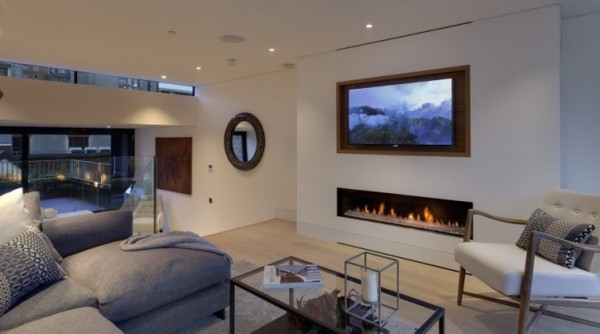 Balanced Flue Gas Fire With TV Above