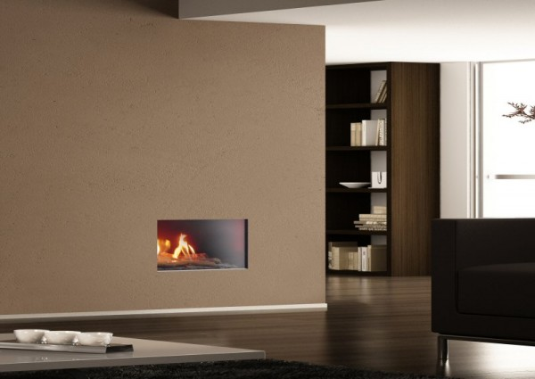 Portofino Balanced Flue Gas Fire With Log Decor