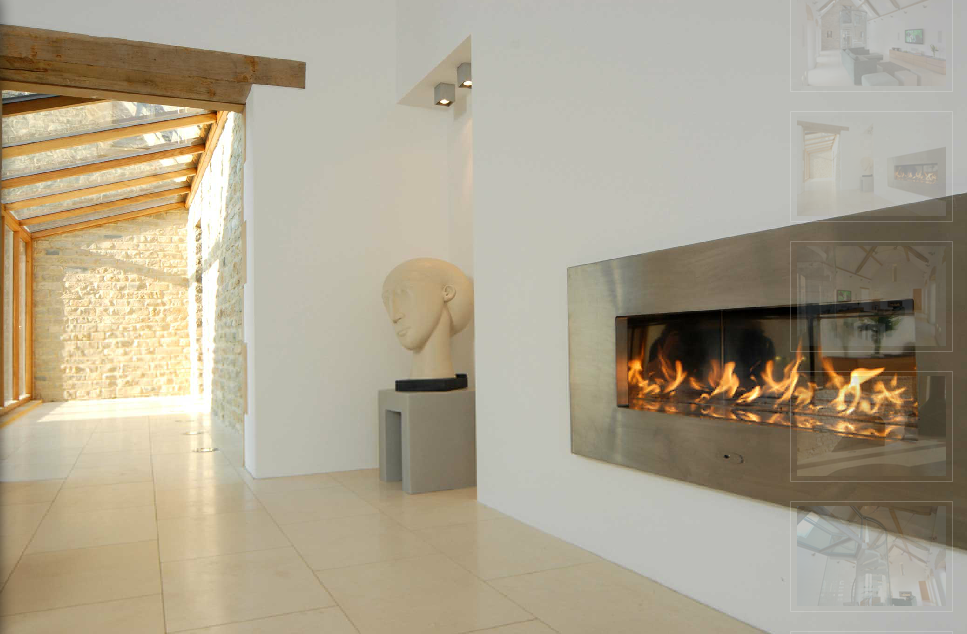 Fire ribbon double sided gas fire for Double sided fireplace price